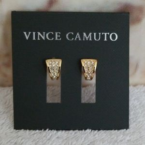 New Vince Camuto Mini Pave V Huggie Hoops